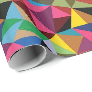 Papel De Presente Teste padrão geométrico colorido