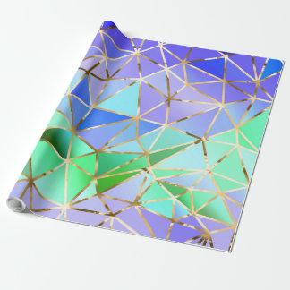 Papel De Presente Teste padrão geométrico do arco-íris