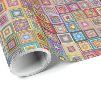 Papel De Presente Teste padrão geométrico retro do azulejo