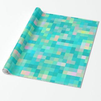 Papel De Presente Teste padrão multicolorido da arte do pixel