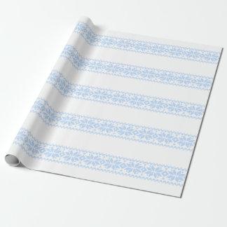 Papel De Presente Teste padrão nórdico da camisola do Natal