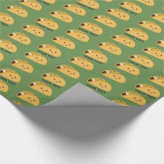 Papel De Presente Teste padrão personalizado de Kawaii Taco bonito