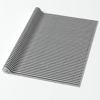 Papel De Presente Teste padrão preto e branco do Harlequin