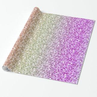 Papel De Presente Teste padrão retro colorido do brilho