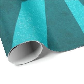 Papel De Presente Teste padrão rústico de Starburst do azul de