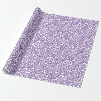 Papel De Presente Teste padrão violeta feito sob encomenda de Ditsy