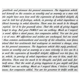 Papel De Presente Texto do orgulho e do preconceito