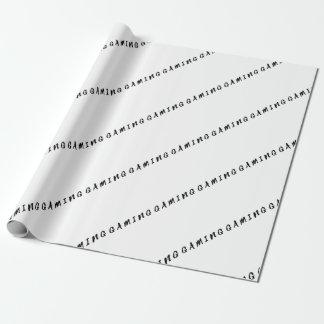 Papel De Presente Texto limpo simples do preto do jogo do Gamer