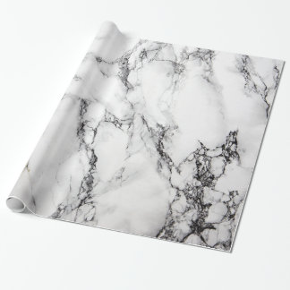 Papel De Presente Textura de mármore branca e preta