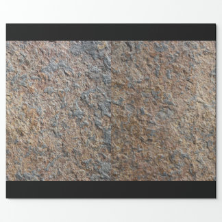Papel De Presente Textura rústica da pedra da ardósia da geologia