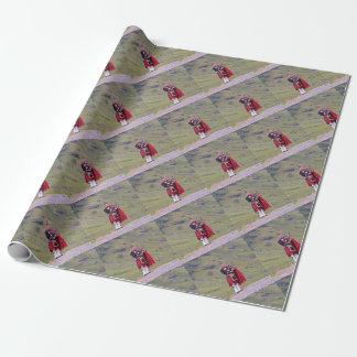 Papel De Presente Tocador de gaita-de-foles escocês solitário,