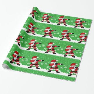 Papel De Presente Toque ligeiro engraçado de Papai Noel