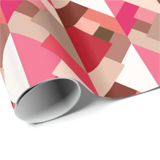 Papel De Presente Triângulos abstratos modernos, vermelho e