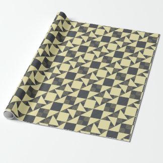 Papel De Presente Triângulos do preto e do ouro