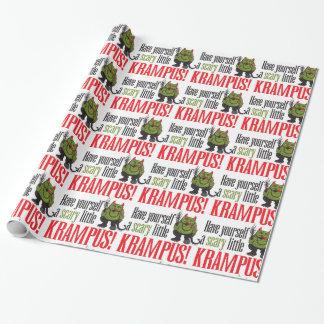 Papel De Presente Um envoltório pequeno assustador de Krampus