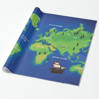 Papel De Presente Um mapa do mundo
