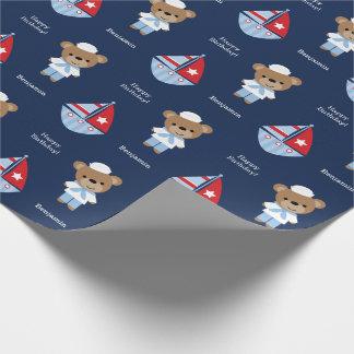 Papel De Presente Urso doce do marinheiro