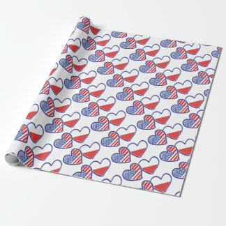 PAPEL DE PRESENTE USA-POLISH-FLAG-HEARTS