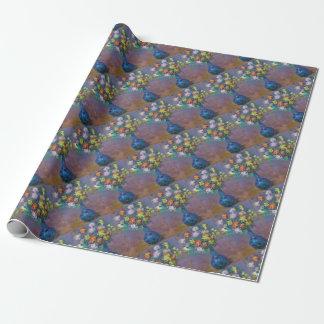 Papel De Presente Vaso dos crisântemos Claude Monet