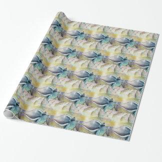 Papel De Presente Veleiros e Seashells