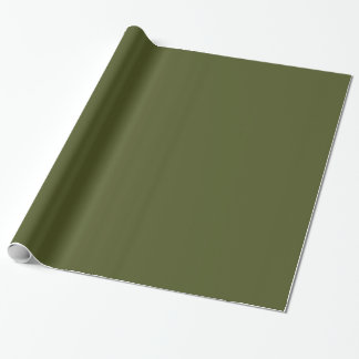 Papel De Presente Verde contínuo do exército