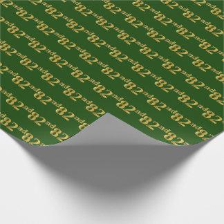 Papel De Presente Verde, evento do ouro 82nd do falso