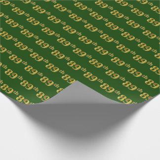 Papel De Presente Verde, evento do ouro 89th do falso (Oitenta-Nono)