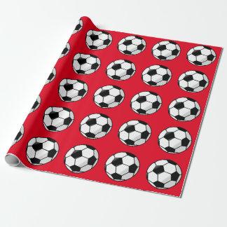 Papel De Presente Vermelho bonito, papel de envolvimento do futebol