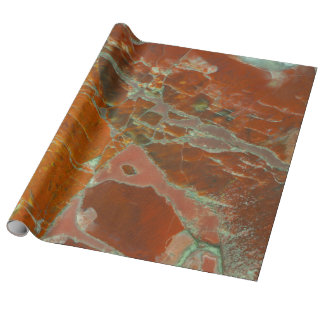 Papel De Presente Vermelho e madeira de Pertrified do ouro