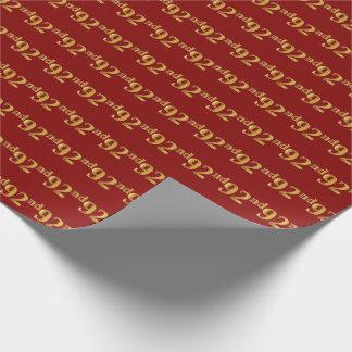 Papel De Presente Vermelho, evento do ouro 92nd do falso