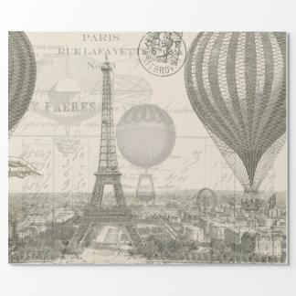 Papel De Presente Viagem do balão de Paris