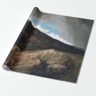 Papel De Presente Viajantes montanhosos da paisagem de William