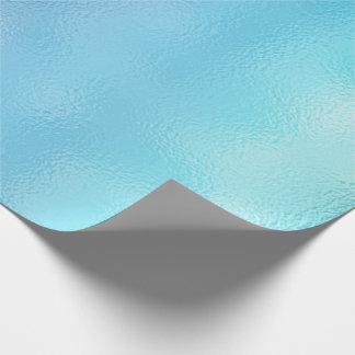 Papel De Presente Vidro azul de Tiffany da praia do oceano do mar do
