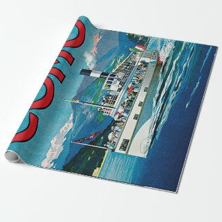 Papel De Presente Vintage Lago di Como Viagem