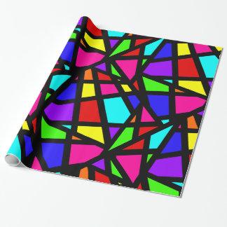 Papel De Presente Vitral abstrato geométrico