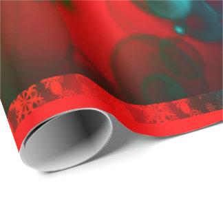 Papel De Presente Wrappingpaper vermelho e verde dos feriados de