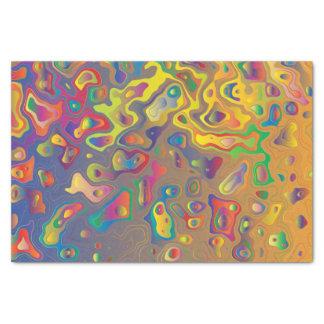 Papel De Seda A água de prisma do arco-íris deixa cair o lenço