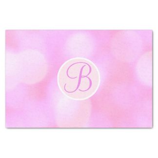 Papel De Seda A faísca cor-de-rosa de Bokeh ilumina a inicial da