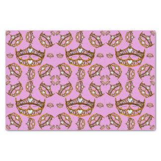 Papel De Seda A rainha do ouro dos corações coroa o lilac