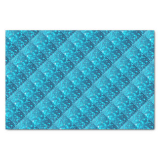 Papel De Seda A turquesa azul elegante de Bokeh circunda o teste