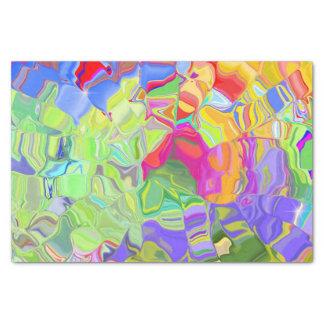 Papel De Seda Abstrato colorido sonhador