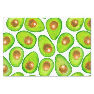 Papel De Seda Aguarela das fatias de abacate