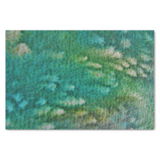 Papel De Seda Aguarela do verde azul