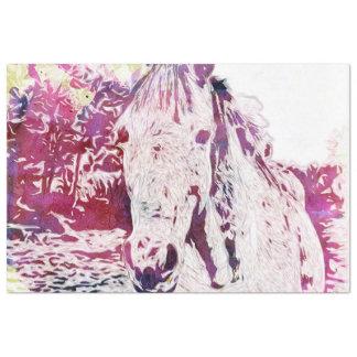 Papel De Seda Aguarelas - cavalo