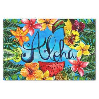 Papel De Seda Aloha - comida da flor e design tropicais do verão