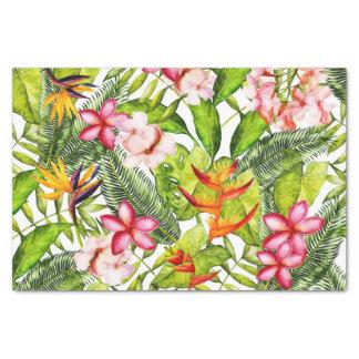Papel De Seda Aloha flores exóticas tropicais da selva