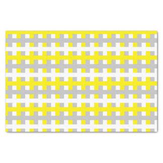 Papel De Seda Amarelo abstrato, prata e branco