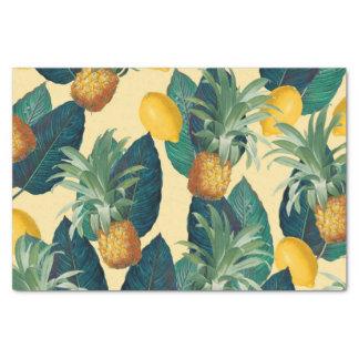 Papel De Seda amarelo dos limões dos abacaxis