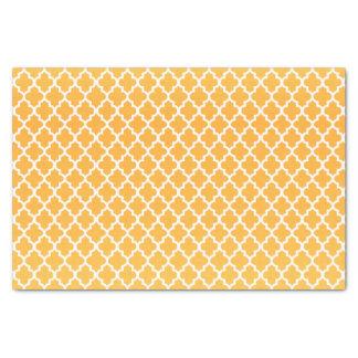 Papel De Seda Amarelo e teste padrão dourados de Quatrefoil