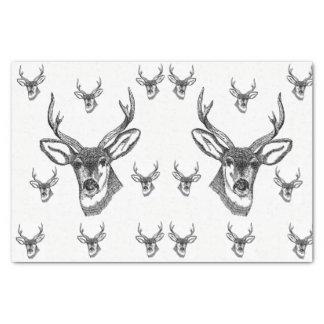 Papel De Seda Animais selvagens decorativos dos cervos do lenço